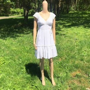 Free People White Gauze Summer Dress sz 4